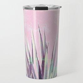 Vintage Yucca Palm - Pink Travel Mug