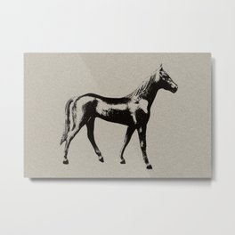 Old Wooden Horse Metal Print