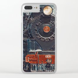 The Old 1271 | Pastel Painting Of Vintage Train Clear iPhone Case