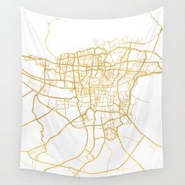 TEHRAN IRAN CITY STREET MAP ART Wall Tapestry