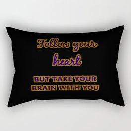 "Funny One-Liner ""Follow Your Heart"" Joke Rectangular Pillow"