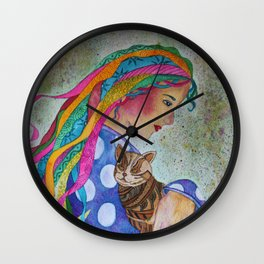 Love Flows Wall Clock