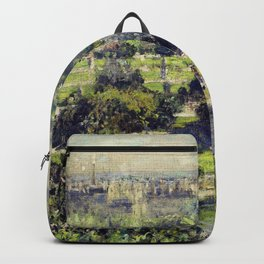 The Tuileries by Claude Monet Backpack