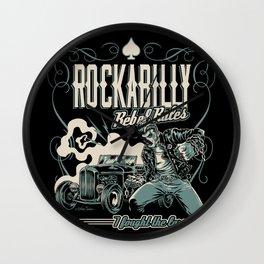 Rockabilly Rebel Rules Wall Clock