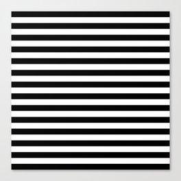 Modern Black White Stripes Monochrome Pattern Canvas Print