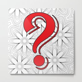 A real red question Metal Print