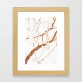 Marble texture design Framed Art Print