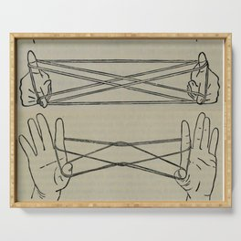 Vintage Cat's Cradle Diagram Serving Tray