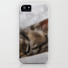 Small cat sleeping iPhone Case