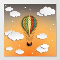 Balloon Aeronautics Dawn Canvas Print