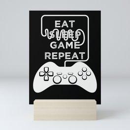 Eat Sleep Game Repeat Mini Art Print