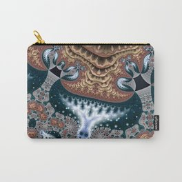 Trees in Meditation Fractal Carry-All Pouch
