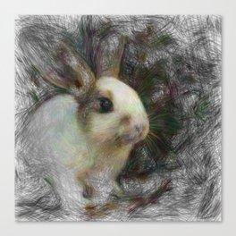 Artistic Animal Bunny 2 Canvas Print