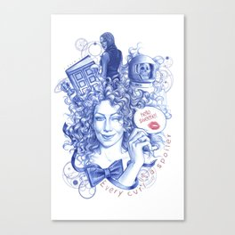 Every Curl Is A Spoiler Canvas Print