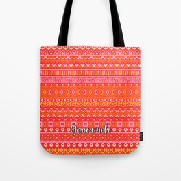 Damasco Red Tote Bag