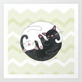 Cat Philosophy Art Print