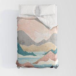 Lake Sunrise Comforters