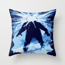Man is the warmest place to hide ... Throw Pillow