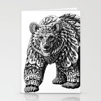 ornate Stationery Cards featuring Ornate Bear by BIOWORKZ