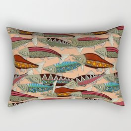 Alaskan salmon peach Rectangular Pillow