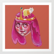 Bubblegum Loves Science Art Print
