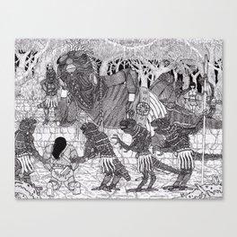 Conan meets the Lizard King Canvas Print