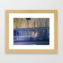 Propeller in Progress Framed Art Print
