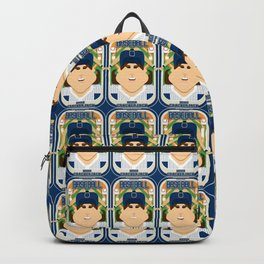 Baseball Blue Pinstripes - Deuce Crackerjack - June version Backpack