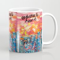 architect Mugs featuring Architect Heart by Anwar B