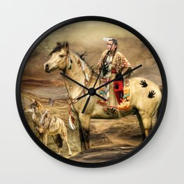 Indian Spirit Wall Clock