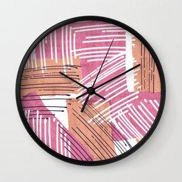 Big Sketch Collage Wall Clock
