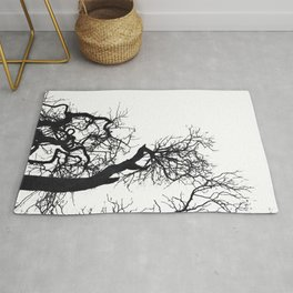 Black tree branches silhouette #3 Rug