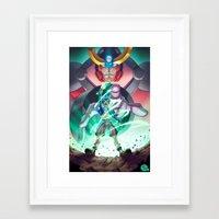 gurren lagann Framed Art Prints featuring Gurren Lagann - This Drill will pierce the Heavens by Brian Hollins art
