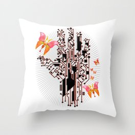 Electric Spring Throw Pillow