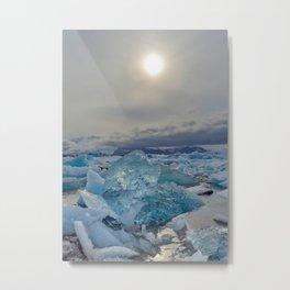 Blue Ice - Jökulsárlón Lagoon Metal Print