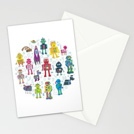 Robots in Space Stationery Cards