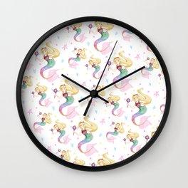Star Mermaid Butterfly Wall Clock