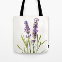 lavender Tote Bags featuring Lavender by 83 Oranges™