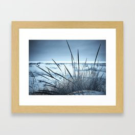 Blue Beachscape Framed Art Print