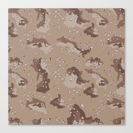 Desert Storm Army Camo Camouflage Military Uniform Pattern Fatigues USA Canvas Print