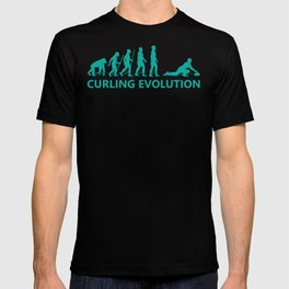 Curling Evolution Gift T-Shirt T-shirt