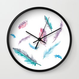 Fantasy Feathers Wall Clock
