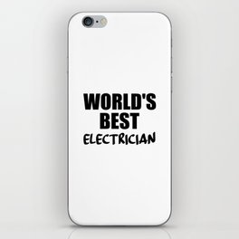 electrician best in the world iPhone Skin