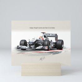 Schumacher painting Mini Art Print