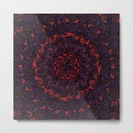 Swirling Mandala Metal Print