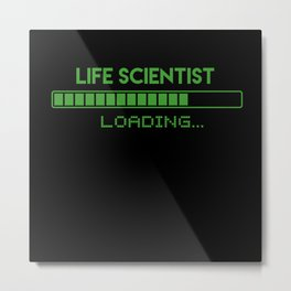Life Scientist Loading Metal Print