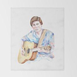 Sam Woolf - Watercolor Throw Blanket