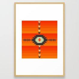 Southwestern in orange and red Framed Art Print