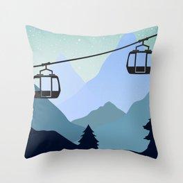 The last ski lift - Sundance Ski Mountain Throw Pillow