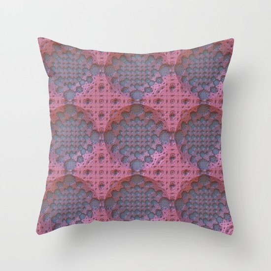 Recessed Lace Throw Pillow